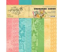 Graphic 45 Ephemera Queen 12x12 Inch Patterns & Solids Paper Pad (4502105)