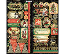 Graphic 45 Christmas Time Stickers (4502122)