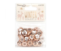 Dovecraft Winter Sparkle Rose Gold Buttons (SCDTN037X20)