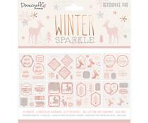 Dovecraft Winter Sparkle 8x8 Inch Decoupage Pad (DCDPG020X20)
