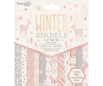 Dovecraft Winter Sparkle 6x6 Inch Paper Pad (DCPAP174X20)