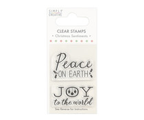 Simply Creative Christmas Sentiments Clear Stamps Peace (SCSTP026X20)
