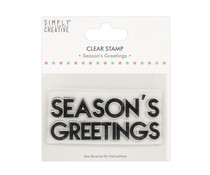 Simply Creative Season's Greetings Large Clear Stamps (SCSTP041X20)