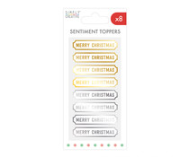 Simply Creative Christmas Sentiment Toppers Gold & Silver (SCTOP084X20)