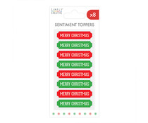 Simply Creative Christmas Sentiment Topper Red & Green (SCTOP085X20)