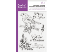 Crafter's Companion Christmas Robin Clear Stamps (CC-STP-CROBIN)