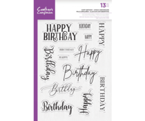 Crafter's Companion Happy Birthday Clear Stamps (CC-STP-HBDAY)