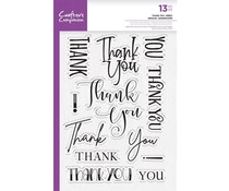 Crafter's Companion Thank You Clear Stamps (CC-STP-THANKY)