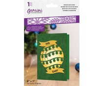 Gemini Snowflake Kisses 5x7 Inch Embossing Folder (GEM-EF5-SNKI)