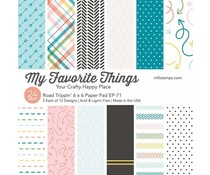 My Favorite Things Road Trippin'  6x6 Inch Paper Pad (EP-71)