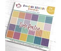 Time For Tea Rainbow Brights 6x6 Inch Paper Pad (T4T/301/Rai/Pap)
