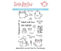 Time For Tea Baked With Love Clear Stamps (T4T/314/Bak/Cle)
