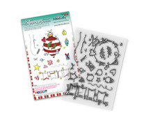 Polkadoodles Baubles & Banners Christmas Clear Stamps (PD8081)