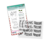 Polkadoodles Heartfelt & Joy Christmas Text Clear Stamps (PD8082)