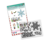 Polkadoodles Christmas Scenes Clear Stamps (PD8083)