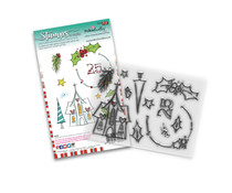 Polkadoodles Holly Blessings Clear Stamps (PD8084)