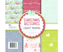 Polkadoodles Christmas Blessings 6x6 Inch Paper Pack (PD8093)