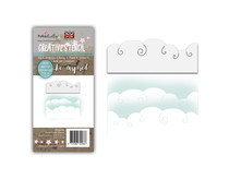 Polkadoodles Snow Clouds Layer Stencil (PD8096)