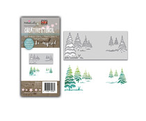 Polkadoodles Winter Trees Layering Stencil (PD8098)