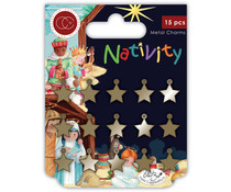 Craft Consortium Nativity Metal Charms Stars (CCMCHRM015)
