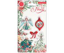 Craft Consortium Noel Clear Stamps Decorations (CCSTMP044)