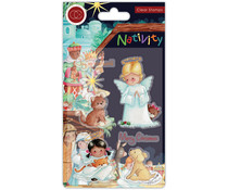 Craft Consortium Nativity Clear Stamps Angels (CCSTMP050)