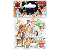 Craft Consortium Nativity Wooden Shapes (CCWDNS010)
