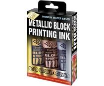 Essdee Metallic Block Printing Ink Set (3pcs) (LPI/A3M)