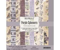 Reprint Purple Ephemera Collection 12x12 Inch Paper Pack (CRP025)