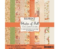 Reprint Shades of Fall Collection 8x8 Inch Paper Pack (RPM006)