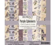 Reprint Purple Ephemera Collection 8x8 Inch Paper Pack (RPM007)