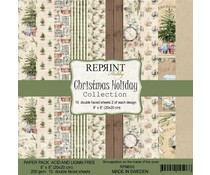 Reprint Christmas Holiday Collection 8x8 Inch Paper Pack (RPM009)