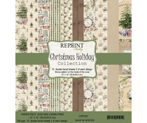 Reprint Christmas Holiday Collection 12x12 Inch Paper Pack (CRP027)