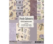 Reprint Purple Ephemera Collection  6x6 Inch Paper Pack (RPP040)