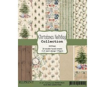 Reprint Christmas Holiday Collection 6x6 Inch Paper Pack (RPP042)