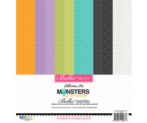 Bella BLVD Monsters & Friends 12x12 Inch Bella Besties Paper Kit (BB2335)