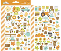 Doodlebug Design Pumpkin Spice Mini Icons Stickers (6969)