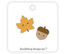 Doodlebug Design Fall Friends Collectible Pins (2pcs) (6983)