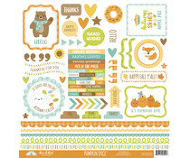 Doodlebug Design Pumpkin Spice This & That 12x12 Inch Stickers (6992)