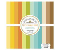 Doodlebug Design Pumpkin Spice Textured Cardstock 12x12 Inch Assortment Pack (7042)