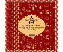 Paper Favourites Red and Gold Christmas 6x6 Inch Paper Pack (PF146)
