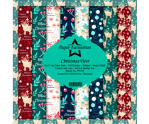 Paper Favourites Christmas Deer 6x6 Inch Paper Pack (PF148)