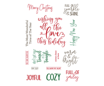 LDRS Creative Elegant Holiday Wishes Clear Sentiment Stamps (LDRS3257)