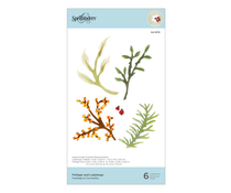 Spellbinders Foliage and Ladybugs Etched Dies (S4-1079)
