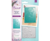 Crafter's Companion Regal Peacock 5x7 Inch 3D Embossing Folder (NG-PEA-EF5-3D-RP)