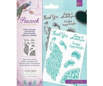 Crafter's Companion Pretty Plumage Clear Stamps (NG-PEA-ST-PRPL)