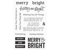 My Favorite Things Merry & Bright Clear Stamps (CS-506)