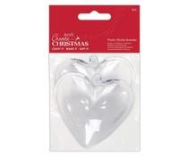 Papermania Create Christmas Plastic Fillable Baubles Hearts (2pcs) (PMA 105979)