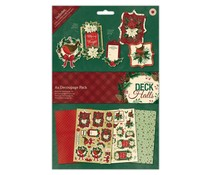 Papermania Deck The Halls A4 Decoupage Pack (PMA 169961)