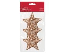 Papermania Create Christmas Rattan Stars 90mm (3pcs) (PMA 174461)